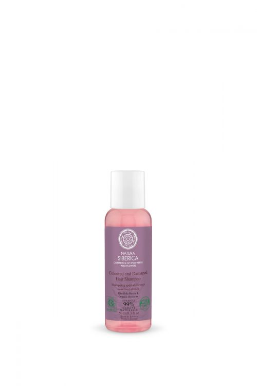 Natura Siberica – Coloured and Damaged Hair Shampoo, Travel Size – 4744183017979